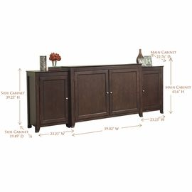stylishly conceal a large flat screen tv when itu0027s not in use within this elegant espresso finished birch wood and veneer motorized tv lift cabinet built