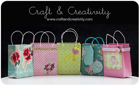 Dagens pyssel, presentpåsar – Craft of the Day, gift bags | Craft & Creativity – Pyssel & DIY
