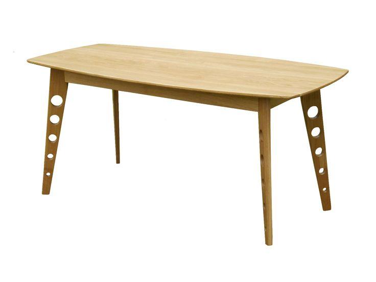 Stół (do jadalni) Hieron (wersja jasna), lite drewno (dąb) / Esstisch (aus Massivholz - Eichenholz) Hieron (helle Version)