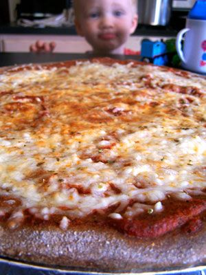 """Roni's """"They don't know what's in there"""" Pizza Sauce """"I have a fussy eater niece. I mean VERY fussy. I made a it my personnel mission to get some vegetables in her. Scouring my refrigerator for every veggie I had, I made a sauce for pizza, her favorite food."""""""