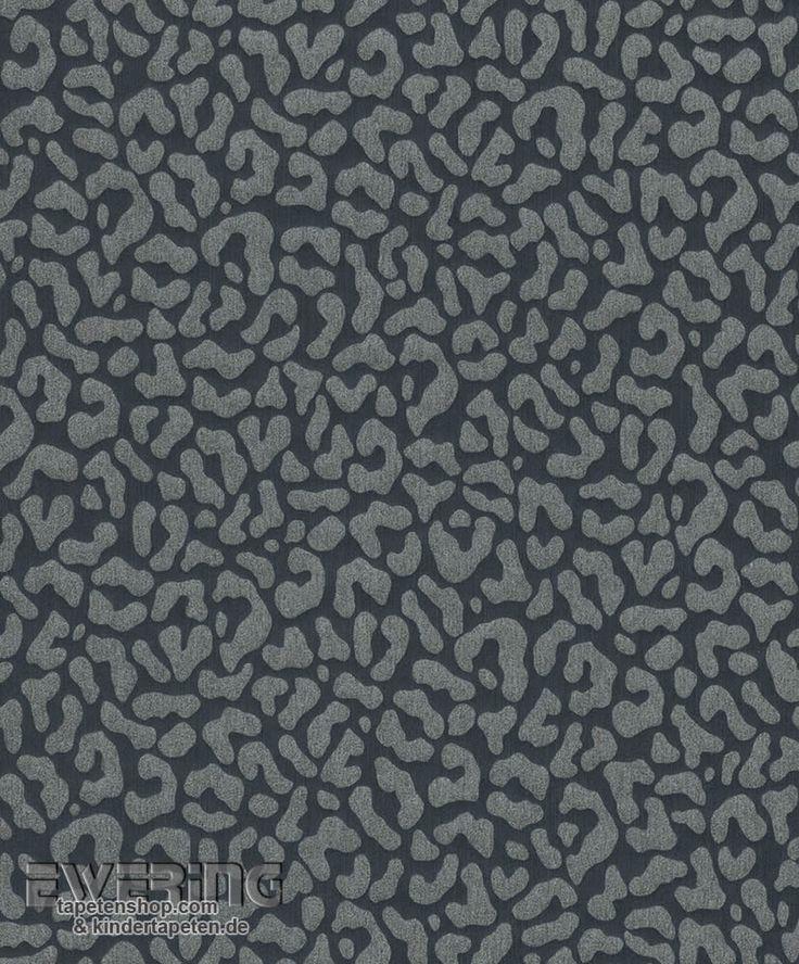 Rasch Textil Cassata 23-077376 anthrazit Leopardenmuster Tapete