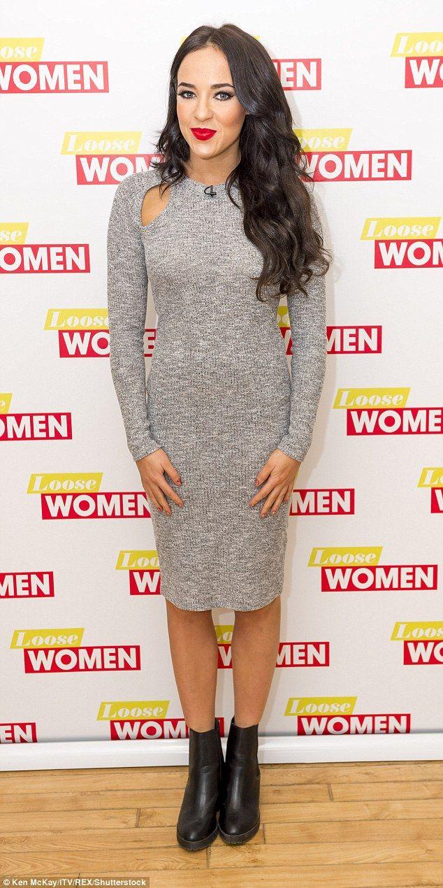 Stephanie Davis.. Lipsy grey knitted dress..