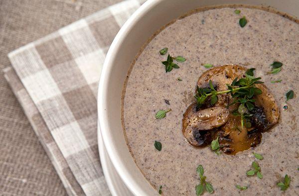 Italian Food Forever » Creamy Roasted Mushroom Soup