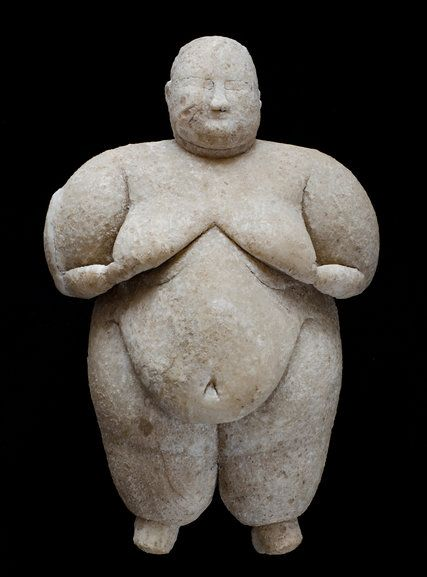 8,000-Year-Old Female Figurine Uncovered in Central Turkey - The New York Times At Catalhoyuk, an ancient site in central Turkey, archaeologists have discovered a rare stone figurine of a woman about 8,000 years old. Only a handful of statuettes of the era have been found in one piece.  The figurine was found beneath a platform with a piece of obsidian, which suggests that it may have been placed there as part of some ritual.
