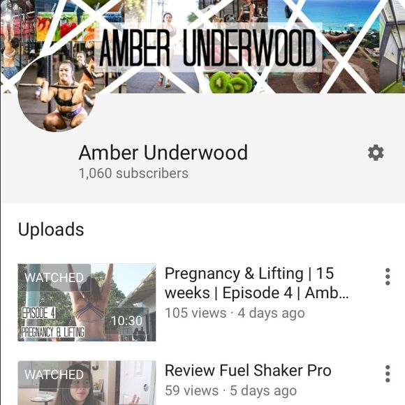 Crossfit YouTube channel! Hey ladies! I have a YouTube channel where I make Crossfit, fitness, lifestyle and health videos! You can YouTube search me under: Amber underwood! I'd love for you to check it out!! I am currently pregnant so I have a series on my journey with Crossfit and pregnancy! Reebok Tops Crop Tops