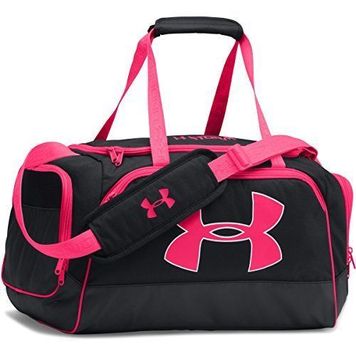 Sport Duffle Bag Carry Gym Tote Overnight Workout Pink Black Dance Kids  Girls