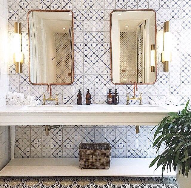 Love The Tiles U0026 Mirrors! \\ Bathroom At Boschendal Design