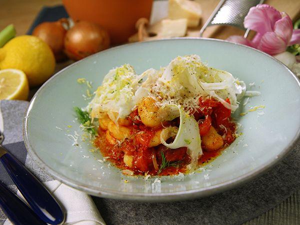 Salviastekt chorizo med gnocchi | Recept.nu