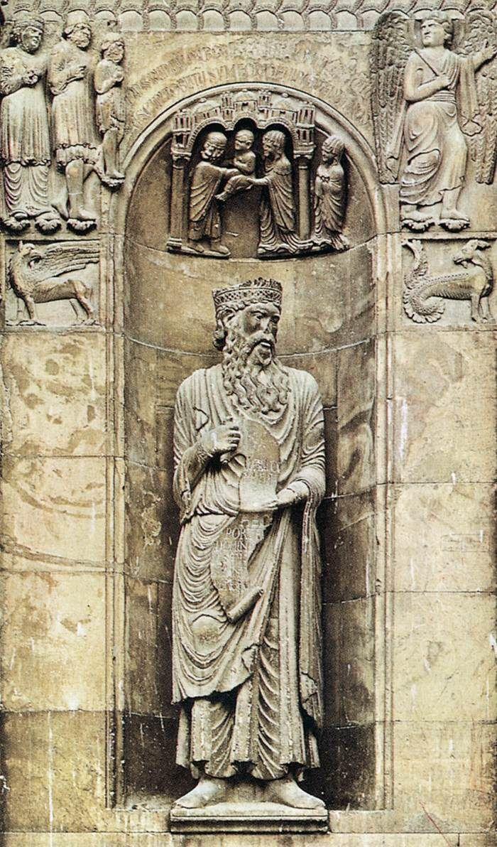 Benedetto Antelami, David c. 1200 Stone Cathedral, Fidenza...