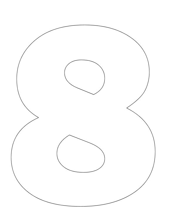 The 25 best number 8 ideas on pinterest eight graphic for Number 8 coloring page