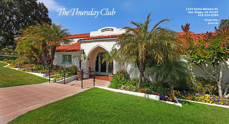 The Thursday Club, San Diego Wedding and Event Venue, Point Loma California