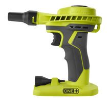 Check out this RYOBI product -   	 Introducing the RYOBI ONE+ 18V High Volume Power Inflator. This tool is great for high volume inflating and deflating of large inflatables such as air mattresses and pool toys. This tool is not just limited to inflation and deflation, it can also be used as a portable benchtop blower to keep your work surfaces clean. The pistol grip handle with GRIPZONE™ overmold provides user comfort as well as a locking trigger feature that prevents user fatigue. These…