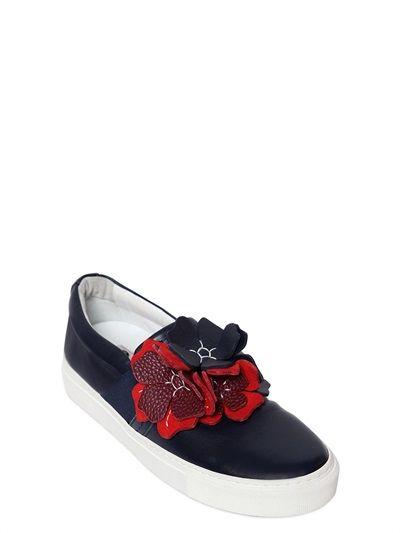 Slip on Sneakers for Women On Sale in Outlet, Black, Lamb, 2017, 2.5 Lanvin