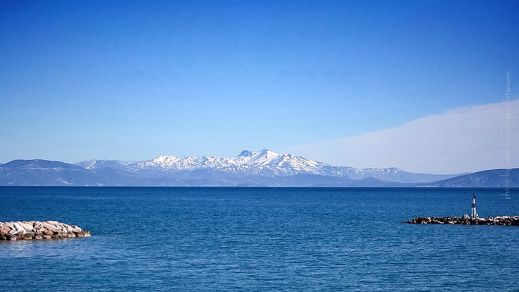Amazing Greece 🇬🇷, Snow covered mountains of Evia Island, shoot from Rafina Port, February 2017 photo by Ioanna Galanos Interiors  https://www.facebook.com/Ioanna-Galanos-Interiors-269255199914651/