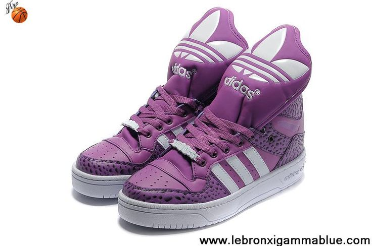 Wholesale Discount Adidas X Jeremy Scott Big Tongue Shoes Purple White Newest Now