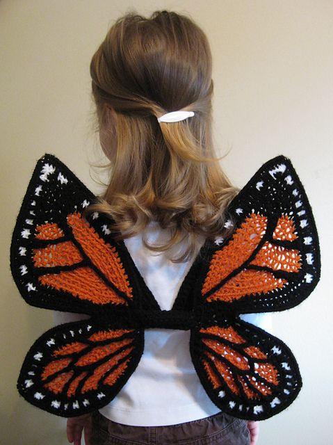 Little Monarch Butterfly Wings by Julie Lapalme: Monarch Butterfly, Butterflies, Kids Stuff, Crochet Butterfly, Costume, Crochet Kids, Crochet Sweet, Butterfly Wings, Crochet Patterns