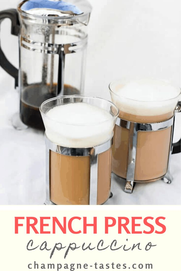 This French Press Cappuccino is flavored with vanilla