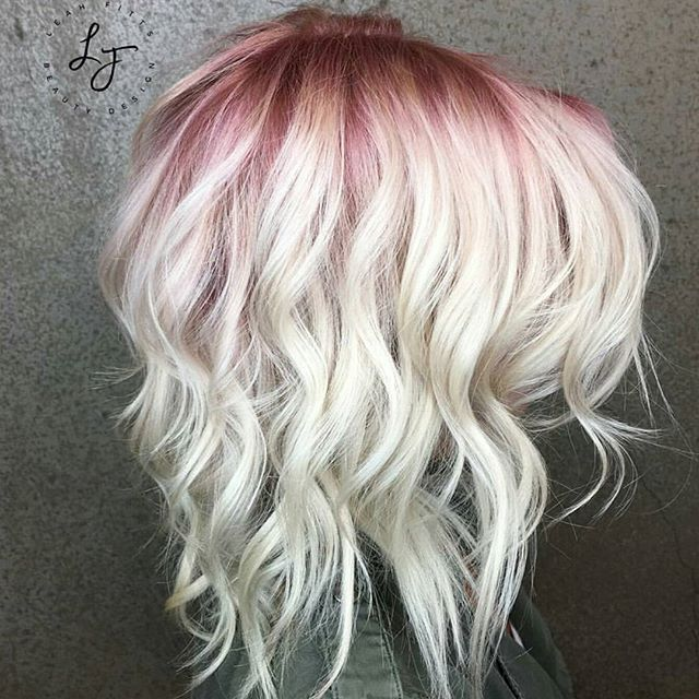 WEBSTA @ behindthechair_com - Rose Blush Shadow Root ...By @leahfittsbeautydesign #BEHINDTHECHAIR