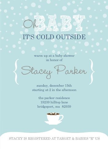 Oh baby it's cold outside! Are you throwing a winter baby shower for someone? Capture the beauty of the season and the excitement of a new baby with this Baby It's Cold Outside theme baby shower. The theme is set with the adorable winter baby shower invitat