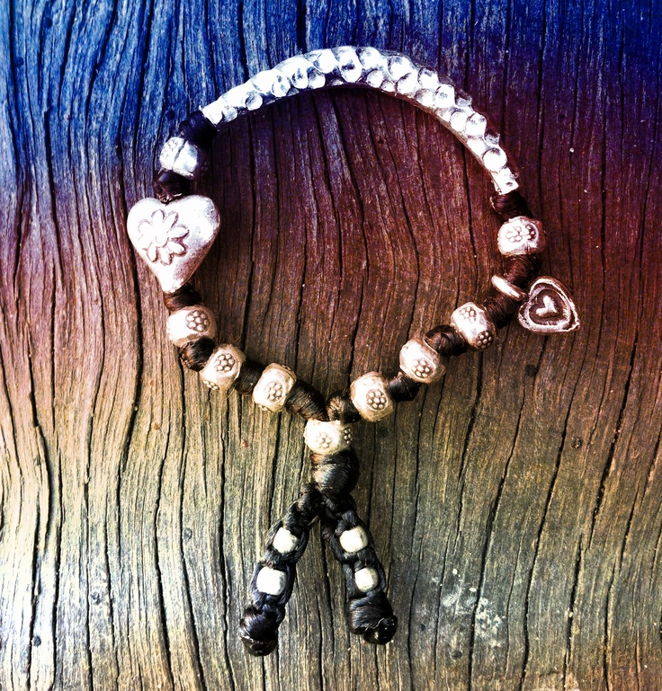 """Little Girl's Soulful Hippy Bracelet by """"SIlver Goddess, Unique, Soulful, Handmade Jewellery"""". Find me on Facebook."""