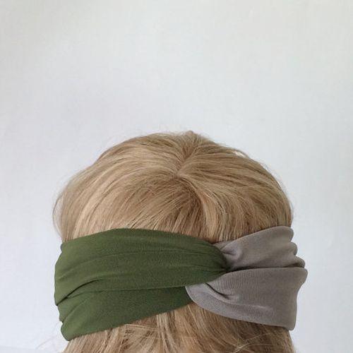 Olive & Grey Headband