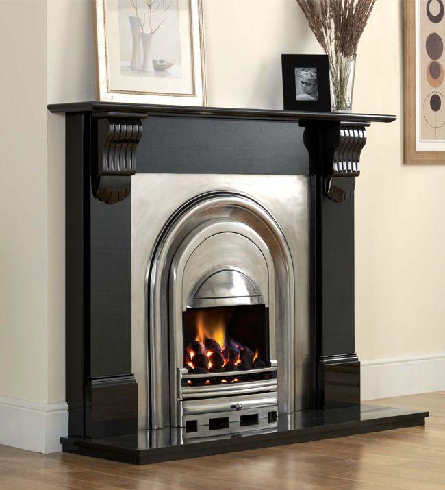 Black Fireplace Surround