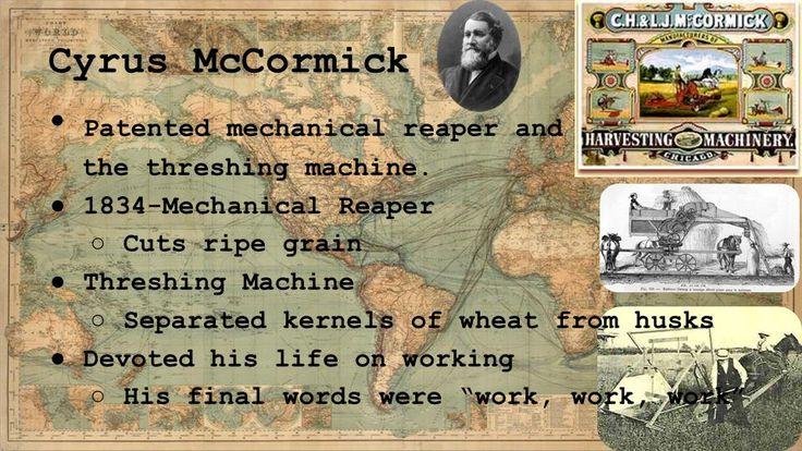Technology Improves Farming How John Deere and Cyrus McCormick ...