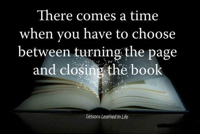 Turn The Page Or Close The Book