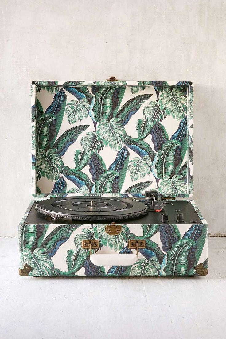 Crosley - Tourne-disque Keepsake imprimé palmiers