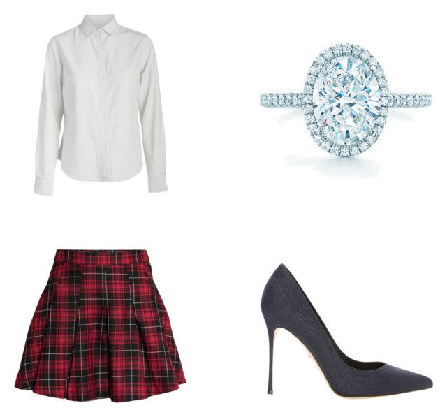 1.A by camila-ortiz-1 on Polyvore featuring moda, Pieces, Sergio Rossi and Tiffany & Co.