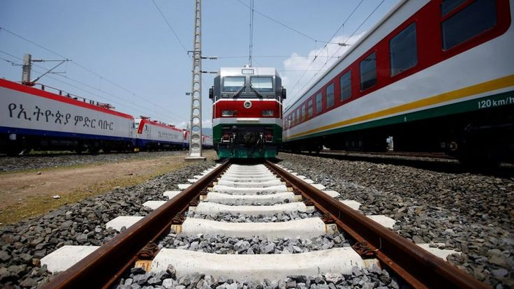 A Chinese-built electric train service from Ethiopia's capital, Addis Ababa, to the Red Sea port in Djibouti opens with a test run for passengers.