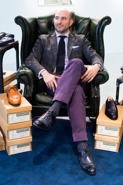 Philip Car of Saint Crispin's knows his footwear (and everything else for that matter - awesome mix of purple nuances).