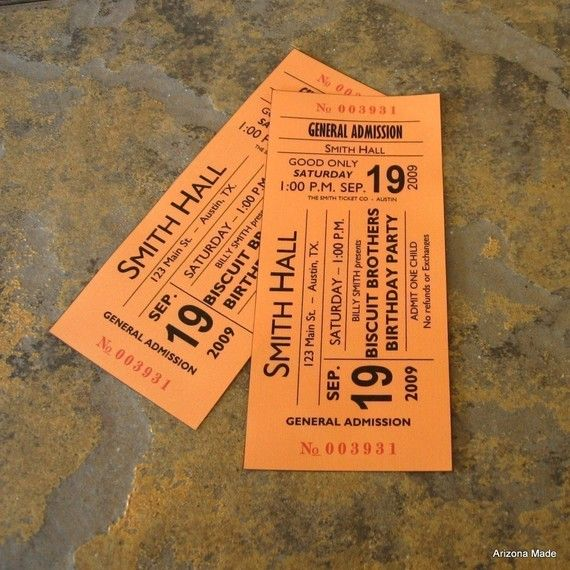 Concert Ticket Party Invitation Digital by ArizonaMade on Etsy, $4.99