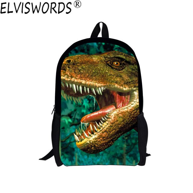 3D Printing School Bags for Boys Super Cool Dinosaur Bookbags Young Men Casual Travel Backpacks  Teenagers Daily Bag Mochila