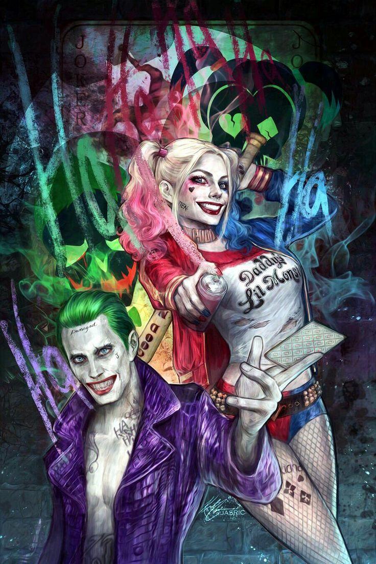 I Love Dc Comics : Best images about the joker and harley quinn on
