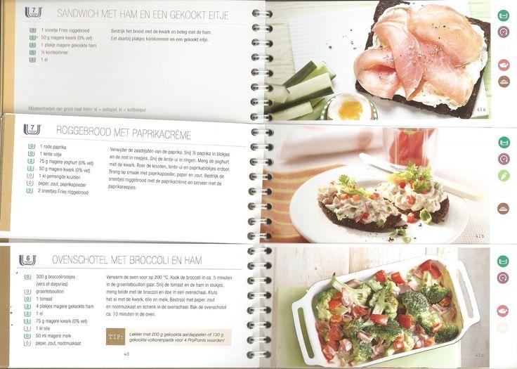 Weight Watchers - Sandwich met ham en een gekookt eitje // Roggebrood met paprikacreme // Ovenschotel met broccoli en ham
