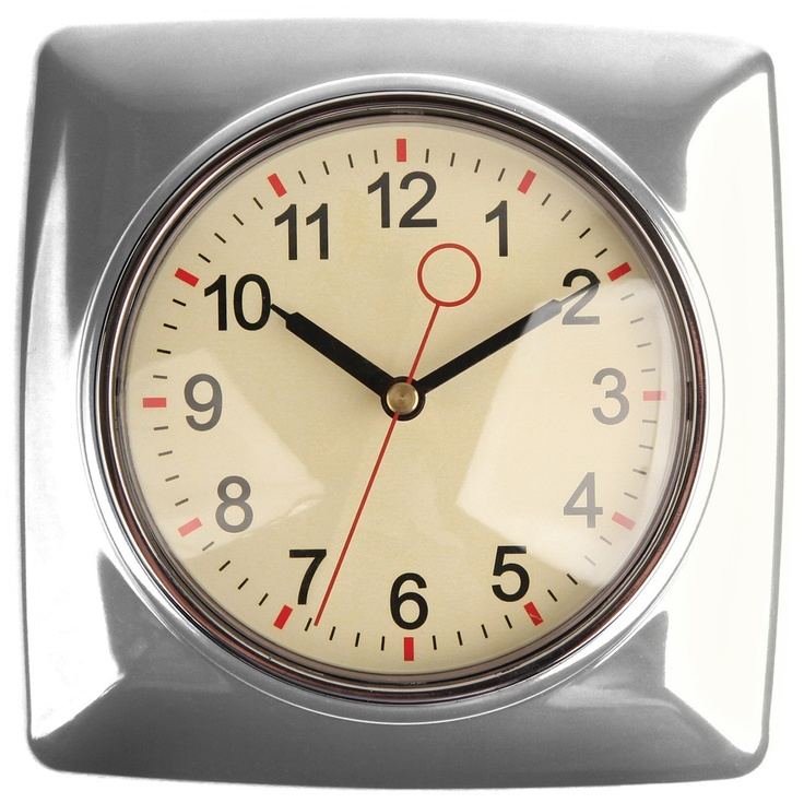 Kikkerland Retro Kitchen Wall Clock Red