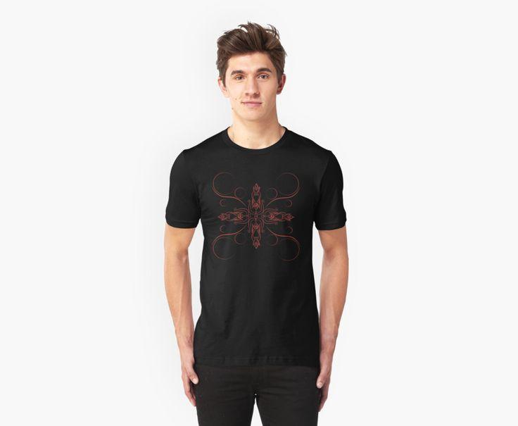Ornament red tattoo design drawing as t-shirt #art #design #tattoo #symbol #original #print #redbubble #products