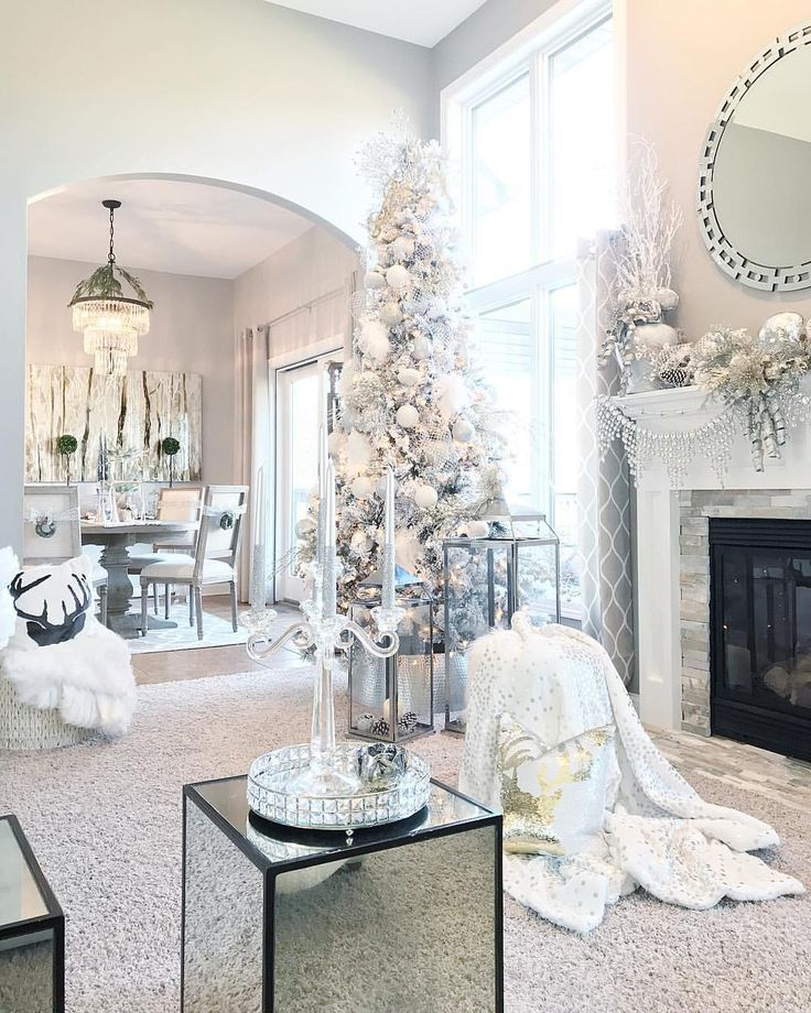 Pin By Kathleen Deblasis On Fall Christmas In 2020 Elegant Christmas Decor White Christmas Decor Cozy Christmas Decor