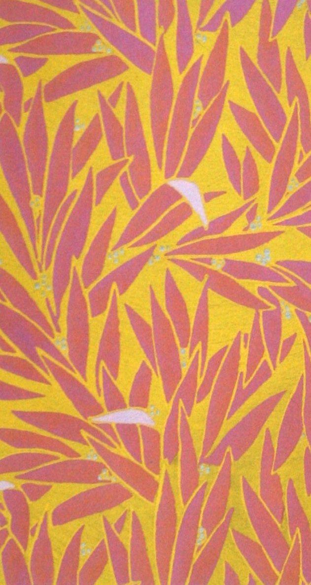 Andre Groult: Feuillages, papier peint édité par A. Groult d'après un de ses dessins, ca 1922