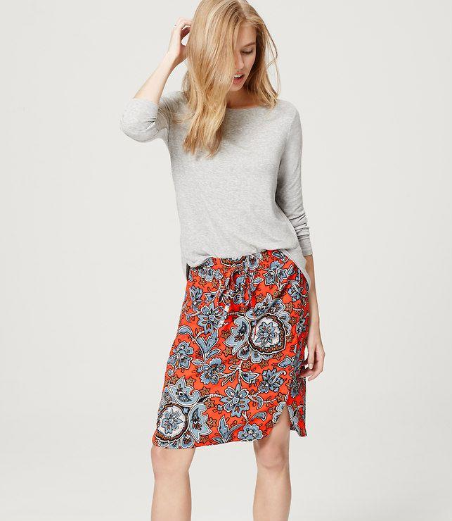 Queen Paisley Drawstring Skirt