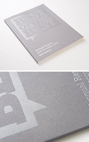 Best of the Best  |  annual report  |  2010  |  emboss and spot varnish on matte paper