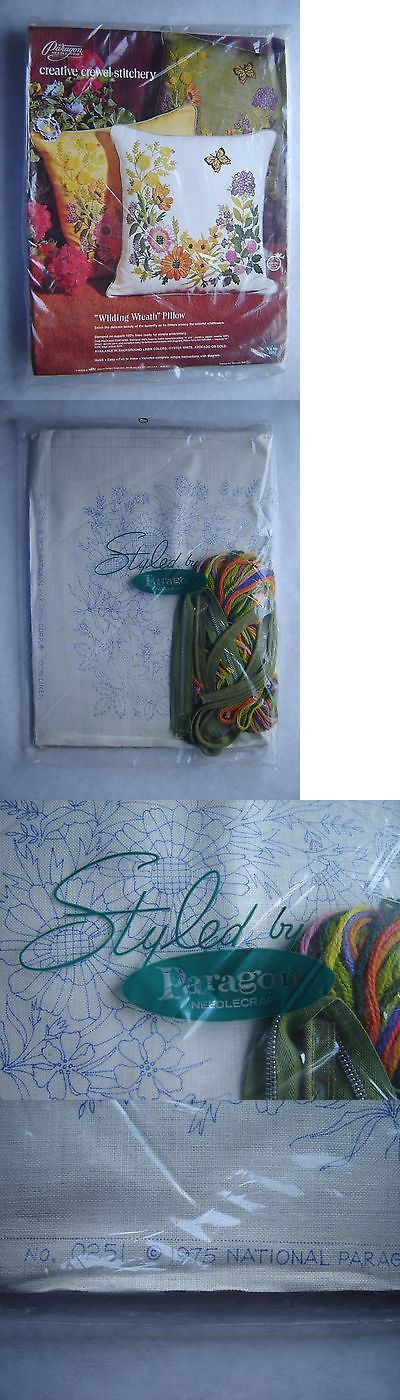 Other Hand Embroidery Kits 28142: Paragon Creative Crewel Stitchery Kit Wilding Wreath Pillow 0251 By Georgia Ball -> BUY IT NOW ONLY: $30 on eBay!
