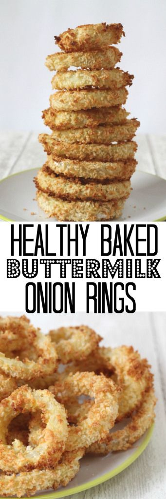 A healthy recipe for delicious baked crunchy Onion Rings. The onions are soaked in buttermilk and then baked in panko breadcrumbs for extra crunch.