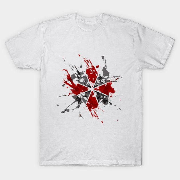 2017 Newest Brand Clothing Zombie T Shirt Hip Hop Gaming Resident Evil Umbrella Splatter Printing T-Shirt Good Quality Tops Tees #Affiliate