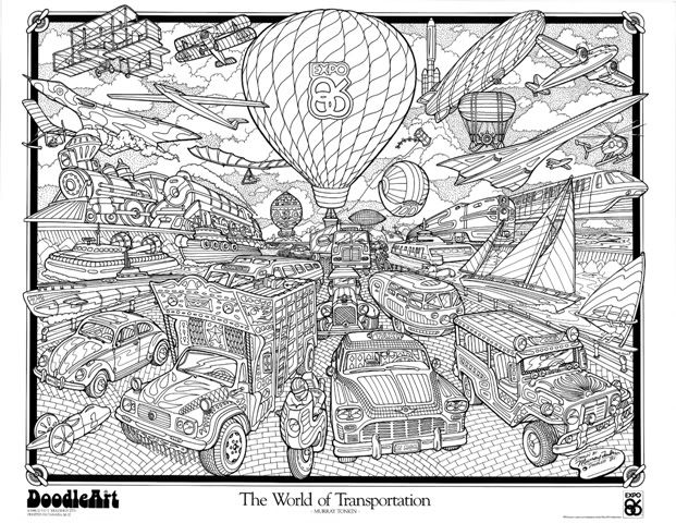 transportation_doodle_art_poster-1.jpg Photo by doodleartposters   Photobucket coloring pages