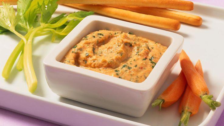 Kichererbsen-Dip | Perfekt für Partys und Feste oder einfach zum Abendbrot: Kichererbsen-Dip - fein-cremig und würzig.