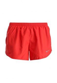 Шорты спортивные Nike, цвет: красный. Артикул: NI464EWEZH44. Женская одежда