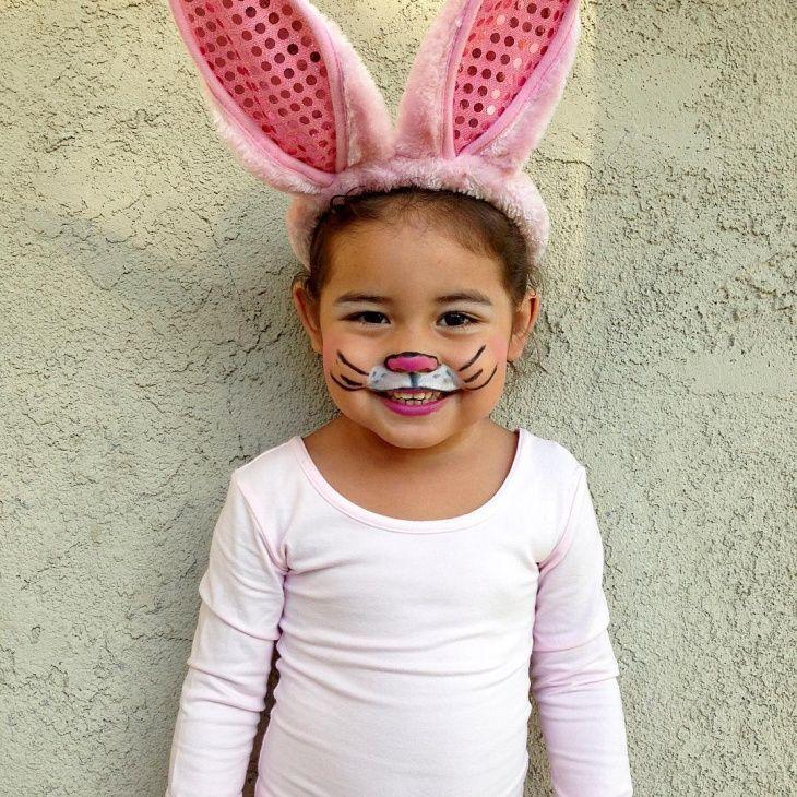 Image result for kid bunny makeup … Bunny makeup, Bunny