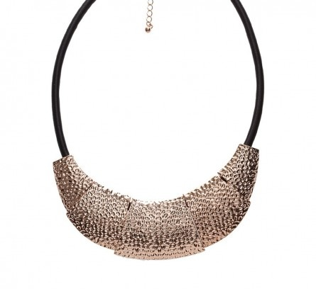 Rose Gold Tone Plate Necklace